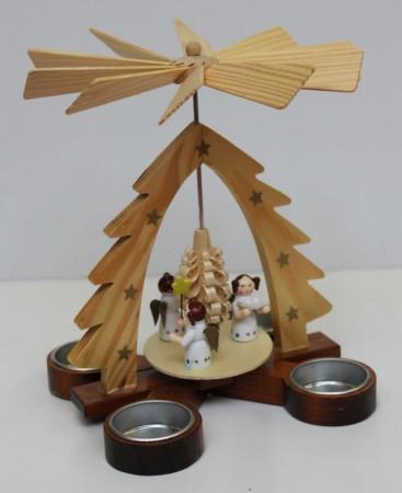 Pyramide für Teelichter, Höhe ca. 20cm